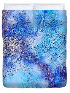 Colors Of Winter Duvet Cover featuring the painting Abstract Art - The colors of winter by Sabina Von Arx Modern Duvet Covers, Winter Painting, Creative Colour, Watercolor Artists, Winter Colors, Mixed Media Painting, Season Colors, Abstract Photography, Basic Colors