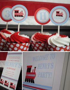 All American Train Party Collection Printable by brownpapergoods, $15.00