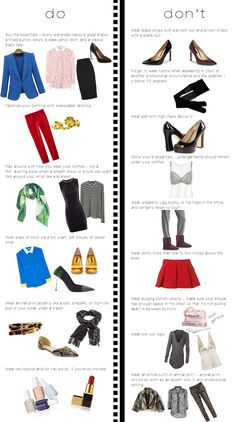 Here are the dos and don'ts of professional attire!