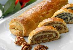 Hungarian Recipes, Romanian Recipes, Romanian Food, Eat Dessert First, Sweet Bread, Hot Dog Buns, Sushi, Sausage, Cooking Recipes