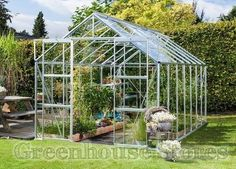 Vitavia Phoenix Silver 8x8 Greenhouse with Horti Glazing £687.00  http://www.greenhousestores.co.uk/Vitavia-Phoenix-Silver-8x8-Greenhouse-Horticultural-Glazing.htm