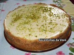 Receita Torta de limão com massa de bolacha