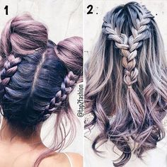 1 OR 2!?  #Style #Pretty #Hair #Purple Tag Your Friends!