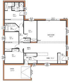 MAISON design 123 m² 4 chambres                                                                                                                                                                                 Plus
