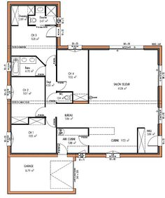 58 meilleures images du tableau plan maison plein pied 4 - Plan maison plain pied 1 chambre ...