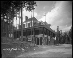 The Canadian Archival Information Network Canadian Rockies, The Old Days, Banff, Vintage Photos, Places Ive Been, Old Things, Canada, Exterior, Club