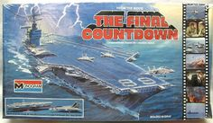 Monogram plastic model USS Nimitz - from the movie The Final Countdown. Also included scale Plastic Model Kits, Plastic Models, The Final Countdown Movie, Uss Nimitz, F-14 Tomcat, Childhood Toys, Scale Models, Science Fiction, Growing Up