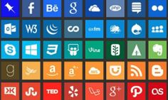 social media icons -- table of elements