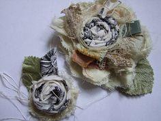 Layered fabric flower video tutorial