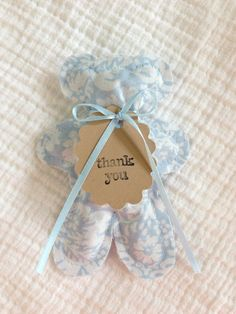 Baby Blue lavender sachet bears baby shower favors by LittleSleepy