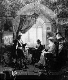 Pierre Nolasque Bergeret, Rembrandt ontvangt Jan Six in zijn atelier, 1834, Assemblée Nationale