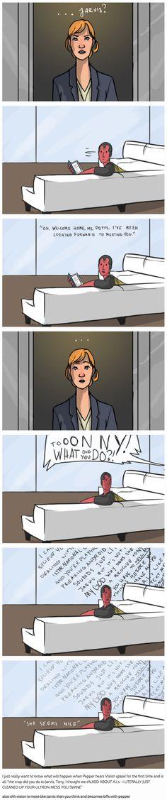 When Pepper meets Vision || Pepper Potts, Vision || #fanedit #humor