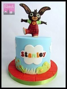 Bing CBeebies birthday cake by Bibbidi Cake Co