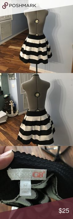 Gianni Bini Black and white skirt. Mint condition. No tears or stains Gianni Bini Skirts