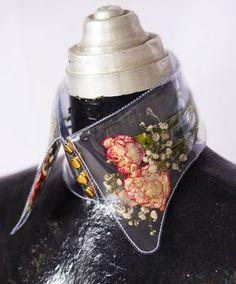 yuki inoue vinyl collar with flower inserts