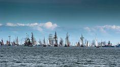 Tall Ships Parade at Kiel Week, the world's biggest regatta and sailing event (2009),