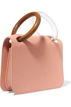 Blush leather (Calf) Snap-fastening front flap Designer color  Shrimp Comes  with 530d5224a5