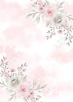 Frühling Wallpaper, Flower Background Wallpaper, Flower Backgrounds, Wallpaper Backgrounds, Flower Graphic Design, Invitation Background, Flower Frame, Watercolor Flowers, Cute Wallpapers