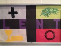 Another Lenten bulletin board Catholic Bulletin Boards, Christian Bulletin Boards, Classroom Bulletin Boards, Religious Education, Religious Art, Painting Quotes, Quote Paintings, Bible Story Crafts, Ash Wednesday