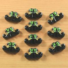 10pcs Witch Green Boot Haunted For Halloween by TheButtonSisters