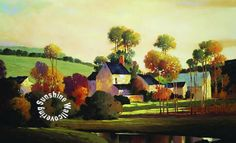 Painterly Landscape  RA0137M Wall Mural