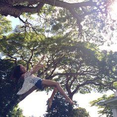 Happiness is swinging off trees in Hawaii. http://instagram.com/lusttforlife
