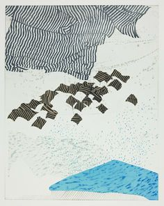 Shifting on Water.  Kim Van Someren etching, monotype, silkscreen