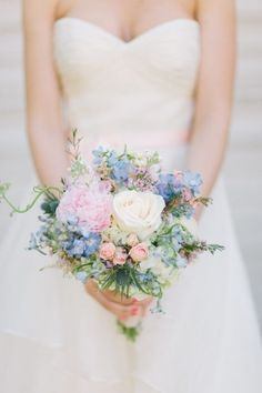 Wedding Theme Spring Wedding Bouquets,Pastel bridal Bouquet 1 - I take you Small Wedding Bouquets, Spring Wedding Flowers, Bridal Flowers, Bride Bouquets, Wedding Dresses, Spring Weddings, Flower Bouquets, Bridesmaid Bouquet, Spring Wedding Colors Blue