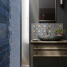Buy Artesano Colonial Blue tiles from Tons of Tiles with Next Day UK Delivery, Samples Available from only inc P&P. Bathroom Floor Tiles, Wall And Floor Tiles, Bathroom Wall, Metro Tiles Bathroom, Kitchen Backsplash, Small Bathroom, Blue Subway Tile, Blue Tiles, Tiles Uk