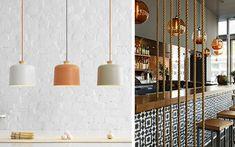 | Decoración de interiores con lámparas colgantes
