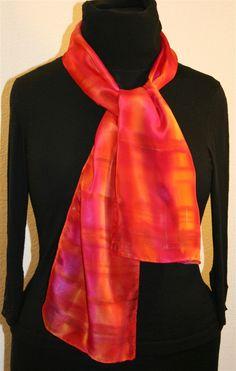 Scheherazade Tale Hand Painted Silk Scarf