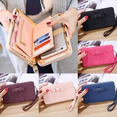 Fashion Handbags, Purses And Handbags, Wallets For Women Leather, Types Of Bag, Leather Clutch, Pu Leather, Long Wallet, Clutch Wallet, Card Holder