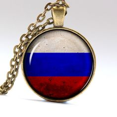 Russian Jewelry Russian Flag Pendant Moscow Necklace Russia Flag LG421