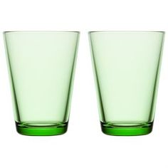 Kartio drikkeglas 40 cl 2 stk - æblegrøn - Iittala