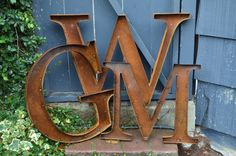 """18"""" Rustic Metal Letters and Numbers by tulipsNtoadstools on Etsy https://www.etsy.com/listing/124757043/18-rustic-metal-letters-and-numbers"""