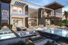 45 luxury modern house exterior design ideas – My Ideas Best Modern House Design, Modern Villa Design, Dream Home Design, Luxury Modern Homes, Luxury Homes Dream Houses, Modern Mansion, Interior Modern, Dream House Exterior, Modern Architecture House
