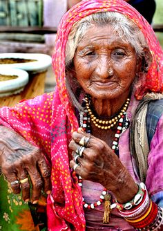 Indian old woman.
