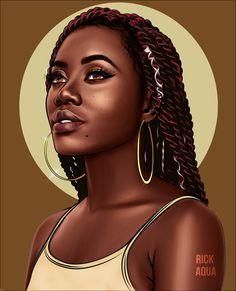 51 Ideas For Black Art Love Queens Inspiration Black Love Art, Black Girl Art, Black Is Beautiful, Black Art Painting, Black Artwork, Woman Painting, How To Draw Braids, Drawings Of Black Girls, Natural Hair Art