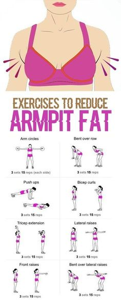 Exercises to reduce armpit fat. by Mary Beth Holmes