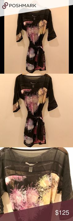 Diane Von Furstenberg Fireworks Print Belted Dress Gorgeous DVF fireworks print belted dress, made out of chiffon with silk lining. Perfect for a night out or New Year's Eve. No tags but never worn, in excellent condition. Diane Von Furstenberg Dresses Mini