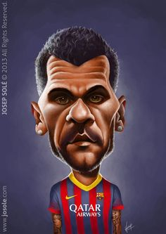 Caricature: Dani Alves by Sole Comic Drawing, Cartoon Drawings, Cartoon Art, Cartoon Characters, The Good Son, Dani Alves, Smoke Photography, Famous Cartoons, Football Art