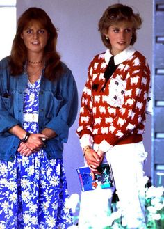 Diana and Sarah. I love Diana's sweater.. the black sheep of the Royal family :-)