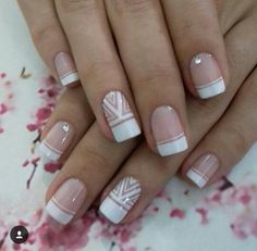 Uñas White Tip Nails, French Manicure Nails, Polygel Nails, French Tip Nails, Jennifer Nails, Finger, French Nail Art, Magic Nails, Bride Nails