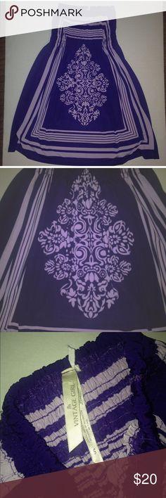 Women's size Small Strapless dress purple bandanna styles dress. Women's size small with the ruched strapless top. Dresses Strapless