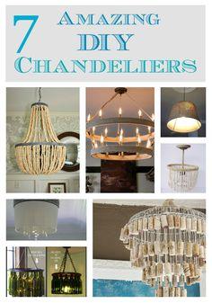 7 amazing diy chandeliers