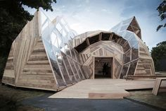 People Meeting Dome is a Deconstructed Geodesic Structure Made from Timber | Inhabitat - Green Design, Innovation, Architecture, Green Building