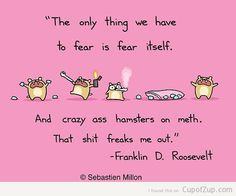Hahahhaha a quote from FDR - that's best part lolll!