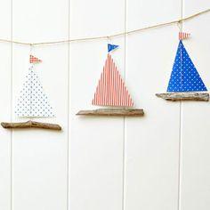 Make a driftwood boat garland :: Wood craft