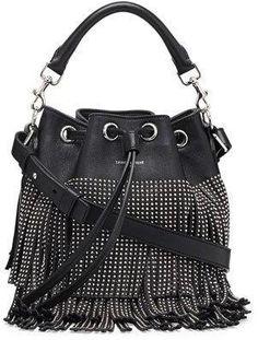 Shop for Small Stud Fringe Bucket Shoulder Bag, Black by Saint Laurent at ShopStyle. Now for $2,750.