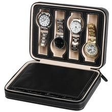 MDYYD Watch Box Watch Display Box for Travel Portable 8 Grids Black PU Leather Zipper Storage Case Watch Organizer Watch Display Case (Color : Brown, Size : One Size) Watch Organizer, Watch Storage Box, Watch Display Case, Box Storage, Leather Watch Box, Leather Bag, Vegan Leather, Watch Travel Case, Watch Case